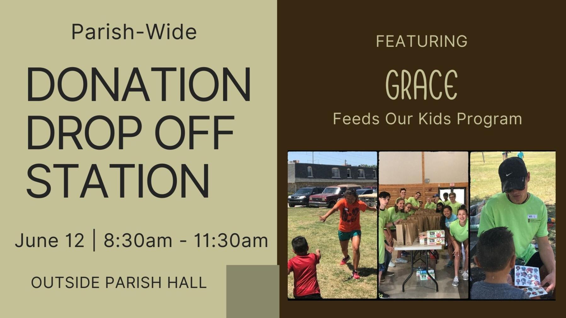 Parish-Wide Donation Drop Off Station