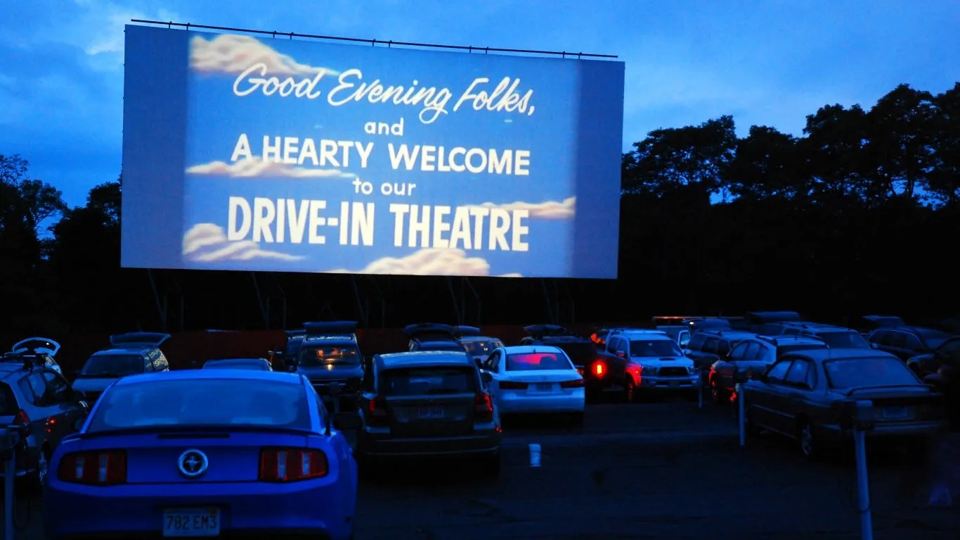 Drive-in movie sponsored by the Mens Club